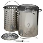 Deep Turkey Fryer 30 QT Stainless Steel Pot Kit Basket Propane Stockpot NEW