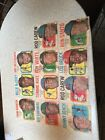 1970 Topps Pin up Posters. 11 Total. Lou Brock Johnny Bench. Frank Robinson.