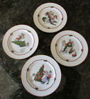 FITZ & FLOYD *DECK THE HALLS* SET OF 4 - DESSERT/SALAD/BREAD PLATE - SUPER CONDI