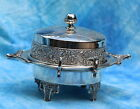 Antique Atkinson Heavy Floral Chilled Butter Server Dish xmbk001