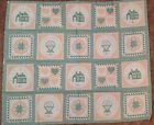 Vtg Country Fabric Panel - Stitched With Love, Quilt, Pillows, Etc.