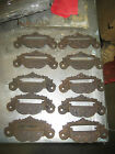 c1880 SET of 10 matching authentic VICTORIAN cabinet pull hardware 4