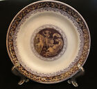 Antique 1800s Elsmore & Forster Plate Tunstall Opaque China Luster Man on Horse