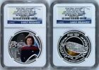 2 COIN Set 2015 P Star Trek CAPTAIN KATHRYN  USS VOYAGER Silver 1 NGC PF70