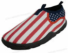 Mens Water Shoes Aqua Socks Flag Stars Pool Beach Surf Yoga Dance American Sizes