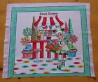 Cotton Fabric Panel Quilt Top Pillow Cupcakes Lollipops Sweet Candy Food Girl #1