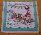 Cotton Fabric Panel Quilt Top Pillow Cupcakes Lollipops Sweet Candy Food Girl #2