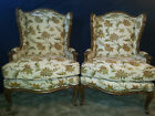 Two Amazing Wingback Queen Anne Chairs by the Henredon Co.