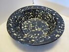 Marshall Pottery Bowl Cobalt Blue Spongeware Master Potter  Signed Texas 9.75