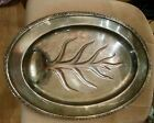 Vtg IS International Silver Plate Camille Footed Serving Meat Tray 16