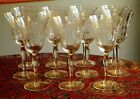 BEAUTIFUL Set of 11 Etched Crystal Elegant Depression Glass Tall Water Goblets
