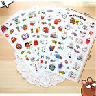 6X Want Cute Cartoon Kawaii Rabbit PVC Sticker DIY Diary Scrapbooking Deco Craft