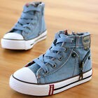 hot kids Childrens sports shoes Boys girls canvas shoes High top casual shoes
