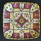 Platter Pier One Vallarta Earthenware Plate MultiColor Paint Square 13.5