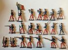 100+ vintage tiny lead toy soldier French German Swiss British infantry cavalry