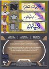 ALBERT PUJOLS DAVID WRIGHT RYAN HOWARD 2008 TOPPS TRIPLE THREADS 3X GU AUTO #6 9