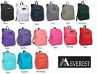 Authentic Everest Classic Basic Student Backpack Black Blue Grey Red Purple Navy