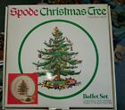 SPODE CHRISTMAS TREE Buffet Set Plate Cup Saucer IN BOX!