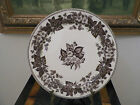 TWO'S COMPANY Brown Toile  TRANSFERWARE  Wild Roses 9 1/2
