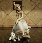 LLADRO Figurine Chit Chat Girl on Phone #5466 with Dalmatian Dog ~ MINT