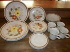 Vintage 4 place setting Old Brook Collection STONECREEK stoneware Japan