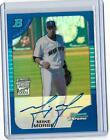 2005 BOWMAN CHROME - BLUE REFRACTOR - AUTOGRAPH - MIKE MORSE 150