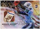 2012 Panini Father's Day Kendall Wright Logo Football Rookie Autograph Auto SICK