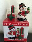Fitz & Floyd Merry Christmas Snowman Gifts Salt and Pepper Shakers 2019/1011 Fun