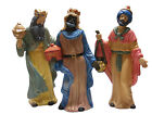 SET OF 3 PORCELAIN 13 THREE KINGS MAGI NATIVITY SET CHRISTMAS DECORATION