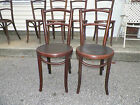 Fischel Bentwood Chair Pair Dining Bistro Early 1900's Beautifully Made !