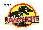 Jurassic Park Movie Logo Embroidered Iron or Sew On Patch Dinosaur T rex New