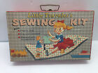 Vintage 1957 Little Travelers Sewing Kit Doll Thimble Hat Clothes NY {DD149}