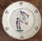 Antique French Hand Painted Faience of Famous French Fighting Regiment