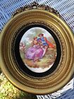 S CREATIONS N.Y.~FRAMED VICOTORIAN FRAGONARD PORCELAIN CAMEO PICTURE