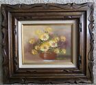 Original Vintage Oil Painting (Flowers) Signed By Listed Artist Robert Cox