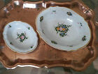 2 VINTAGE DERUTA GRAZIA Italy Hand Painted Majolica Serving Bowls ROSE  10