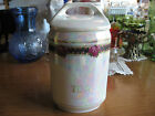 antique/vintage atlas china czechoslovakia luster tea canister