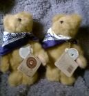 THE TWINS, 2 GENUINE BOYDS, T.J'S. BEST DRESSED COLLECTION MINIATURE TEDDY BEARS