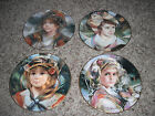 Francisco Masseria Collector Plate Set Lot (4) Royal Doulton Gold Rim Portraits