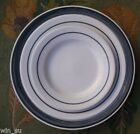 Vintage~RICHARD GiNORi Italy~Gray Band~SET 3 PLATES~Bread239~SALAD 9F~Dinner 540