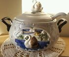 Soup Tureen Hand Made Hand Painted SAN MIGUEL Signed