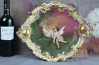 Exclusive Porcelain hand paint wall plaques plates Cherub putti angels marked N1