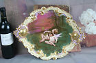 Exclusive Porcelain hand paint wall plaques plates Cherub putti angels marked N2