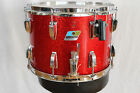 1979/80 LUDWIG 10X14 RED SPARKLE MARCHING SNARE DRUM. 6 PLY MAPLE. W/BRACKETS