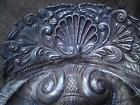 19thc magnificent Baroque shell scalloped silver plate holy water font ?/ dish