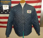 1980s OSH KOSH B'GOSH CHAMPION SPARKPLUG PROMO WINDBREAKER QUILTED LARGE VGOOD