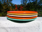 5 VINTAGE GENUINE  FIESTA PLATES HLC  USA 9 INCH DINNER PLATES  ORANGE GREEN
