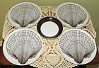 FITZ & FLOYD MONOTONE SHELL BROWN SALAD PLATES & BERRY BOWL (LOT OF 5)