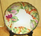 EG Hand Painted sgn Victorian China Porcelain 8 7/8d
