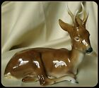 Ortloff Rare Deer Brown And White Porcelain Figurine Germany